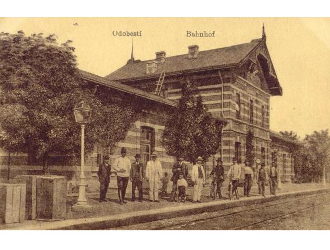Gara Odobesti in 1917